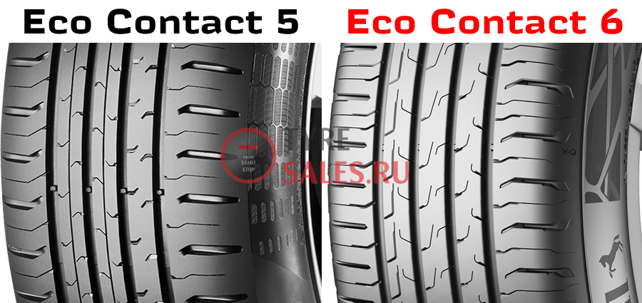сравнение новой шины Continental Eco Contact 6 с 5 моделью