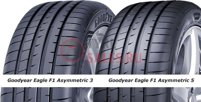 сравнение шины assymetrico 5 и 3